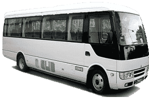 34 Seater Rosa Bus Hire with driver in Dubai, Sharjah UAE
