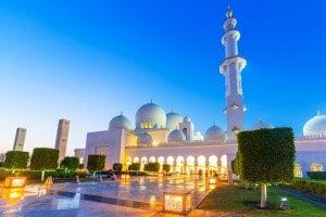 Abu Dhabi Sheikh Zayed Mosque from Dubai