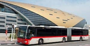 DXB Airport transportation by public buses